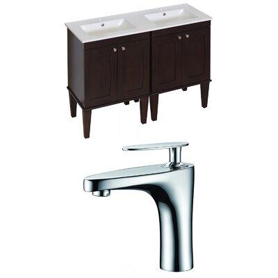 Harrop Floor Mount 48 Double Bathroom Vanity Set