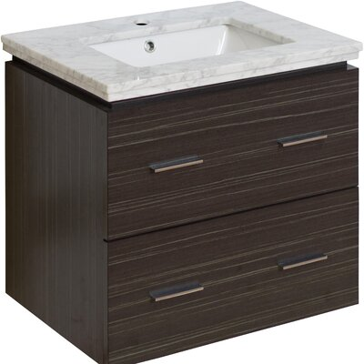 Maryalice Wall Mount 23.75 Single Bathroom Vanity Set Sink Finish: White