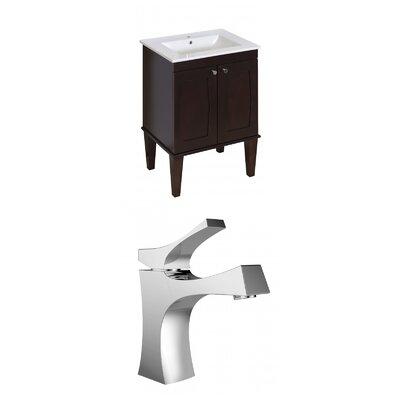 Harrop Floor Mount 23.75 Single Bathroom Vanity Set Faucet Mount: Single Hole