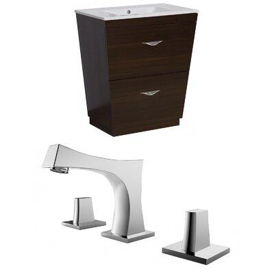 Kao Floor Mount 23.75 Single Bathroom Vanity Set Faucet Mount: 8 Centers