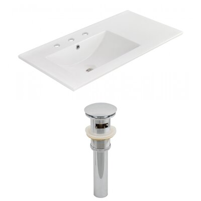 Ceramic 36 Single Bathroom Vanity Top Faucet Mount: 8 Centers