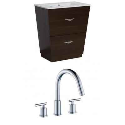 Kao Floor Mount 30 Single Bathroom Vanity Set Faucet Mount: 8 Centers