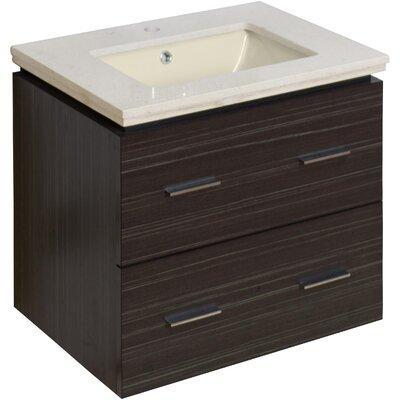 Maryalice Wall Mount 23.75 Single Bathroom Plywood Vanity Set Sink Finish: Biscuit