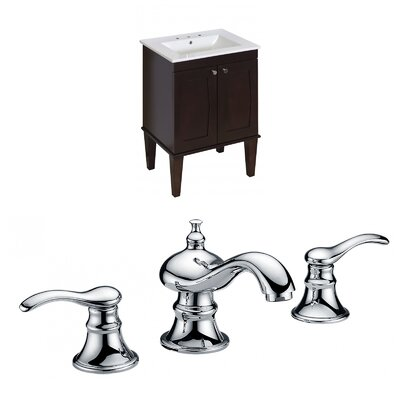 Kimmell Floor Mount 23.75 Single Bathroom Vanity Set Faucet Mount: 8 Centers