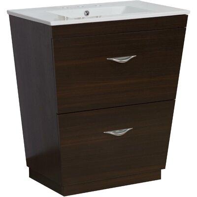 Kao Modern Floor Mount 30 Single Bathroom Vanity Set Faucet Mount: 8 Centers