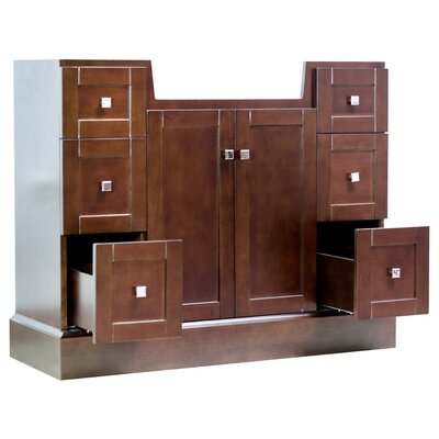 Noblestown Floor Mount 40 Single Bathroom Vanity Set Base Finish: Cherry, Faucet Mount: 4 Centers
