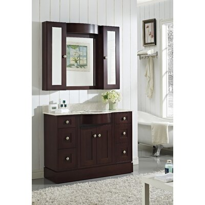 Tiffany Transitional Wall Mount 48 Vanity Base