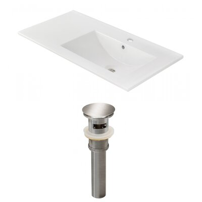 Drake 36 Single Bathroom Vanity Top Faucet Mount: Single, Drain Color: Brushed Nickel