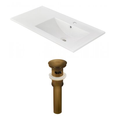 Drake 36 Single Bathroom Vanity Top Faucet Mount: Single, Drain Color: Oil Rubbed Bronze