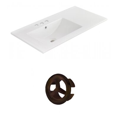 Drake 36 Single Bathroom Vanity Top Faucet Mount: 4 Centers, Overflow Cap Color: Oil Rubbed Bronze