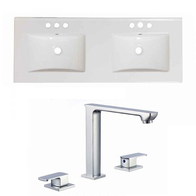 Xena Ceramic 59 Double Bathroom Vanity Top