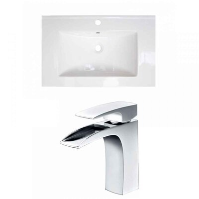 Ceramic 25 Single Bathroom Vanity Top