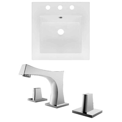 Ceramic 17 Single Bathroom Vanity Top