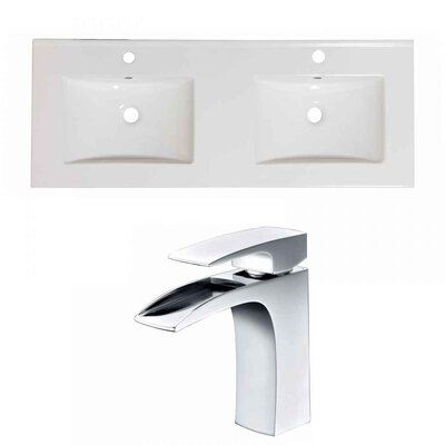 Xena Ceramic 48 Double Bathroom Vanity Top