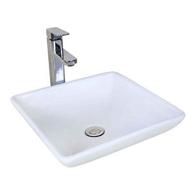 Ceramic 15.75 Bathroom Sink Installation Type: Vessel Sinks