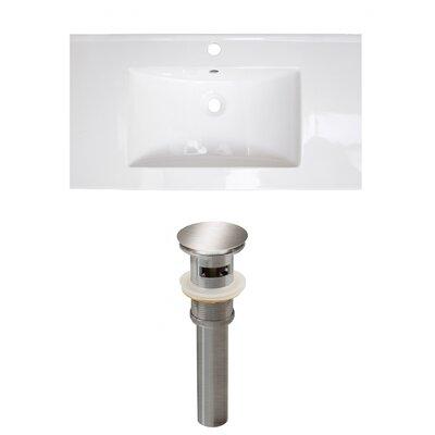 Roxy 32 Single Bathroom Vanity Top Faucet Mount: Single, Drain Color: Brushed Nickel
