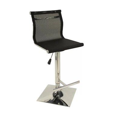 Steinmetz Adjustable Height Swivel Bar Stool Color: Black