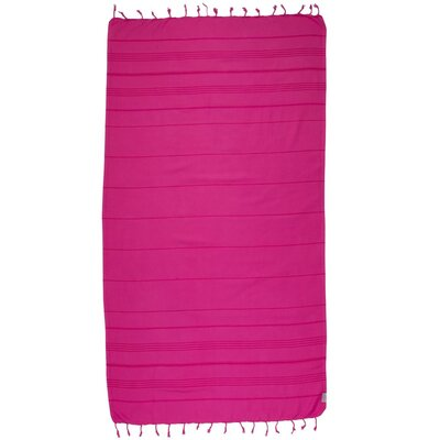 Turkish 100% Cotton Beach Towel Color: Wild Strawberry