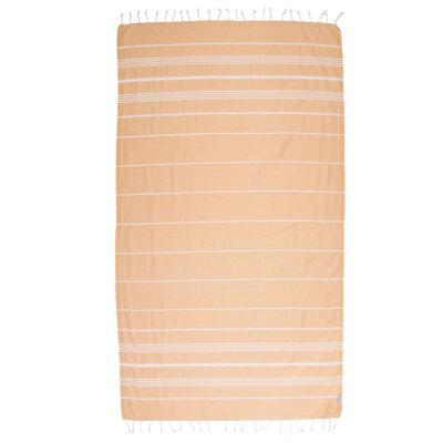 Classic Turkish 100% Cotton Beach Towel Color: Melon