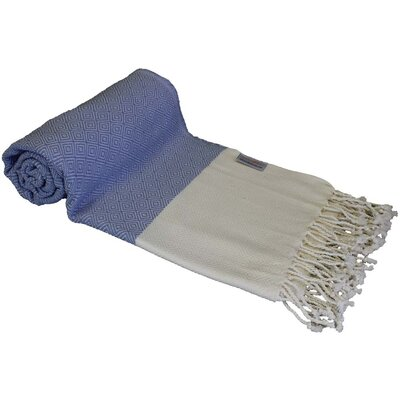 Diamond Turkish Rayon from Bamboo Beach Towel Color: Blue/White