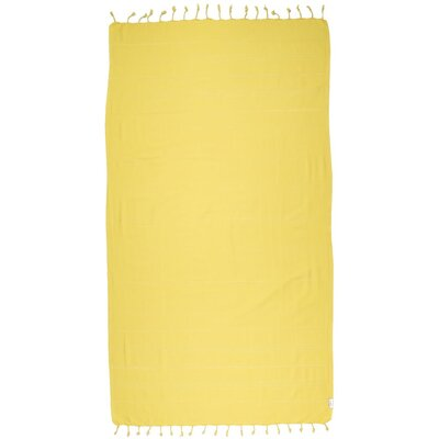 Turkish 100% Cotton Beach Towel Color: Yellow