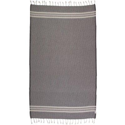 Thin Back Turkish 100% Cotton Beach Towel Color: Black