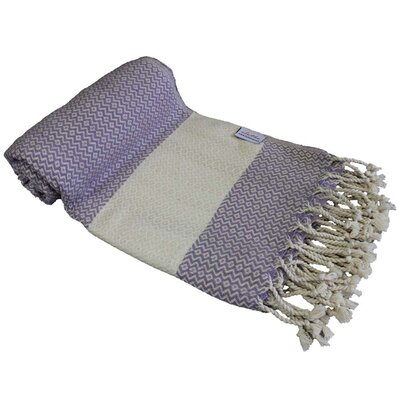 Fish Eye Turkish Beach Towel Color: Purple