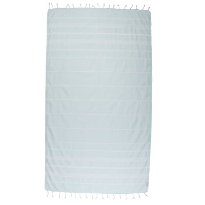 Classic Turkish 100% Cotton Beach Towel Color: Aquamarine