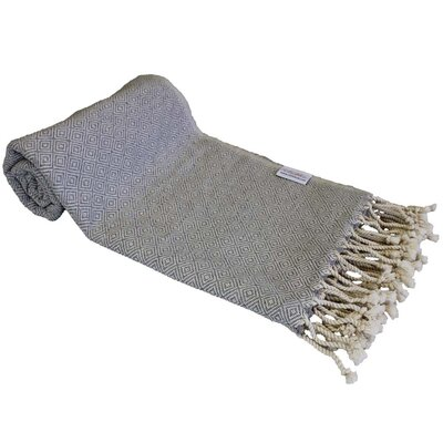 Diamond Turkish Beach Towel Color: Gray