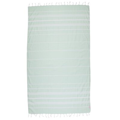 Classic Turkish 100% Cotton Beach Towel Color: Light Green