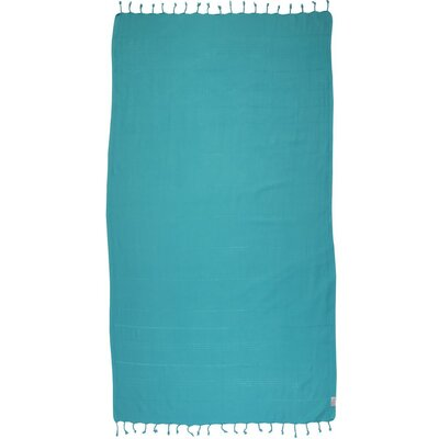 Turkish 100% Cotton Beach Towel Color: Robin Egg Blue