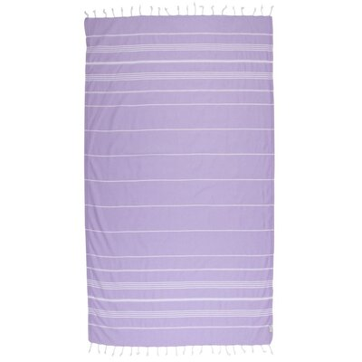 Classic Turkish 100% Cotton Beach Towel Color: Lilac