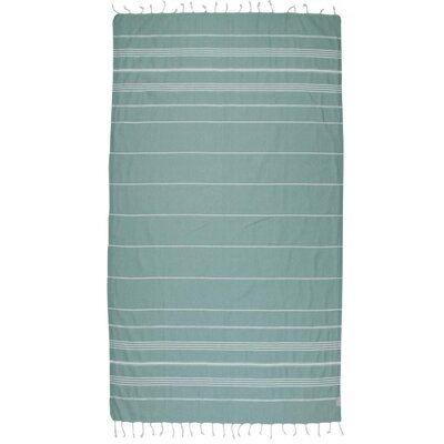 Classic Turkish 100% Cotton Beach Towel Color: Dark Green