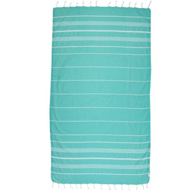Classic Turkish 100% Cotton Beach Towel Color: Mint Green