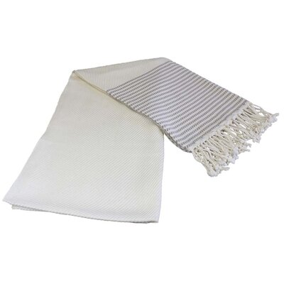 Stripe Turkish Beach Towel Color: Light Brown