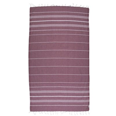 Classic Turkish 100% Cotton Beach Towel Color: Burgundy