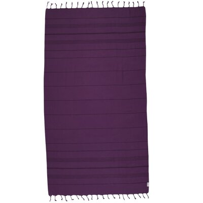 Turkish 100% Cotton Beach Towel Color: Vivid Violet