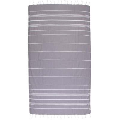 Classic Turkish 100% Cotton Beach Towel Color: Dark Gray