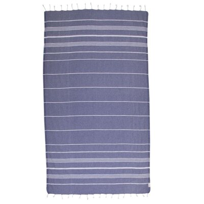 Classic Turkish 100% Cotton Beach Towel Color: Midnight/Blue