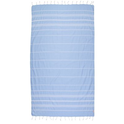 Classic Turkish 100% Cotton Beach Towel Color: Light Blue