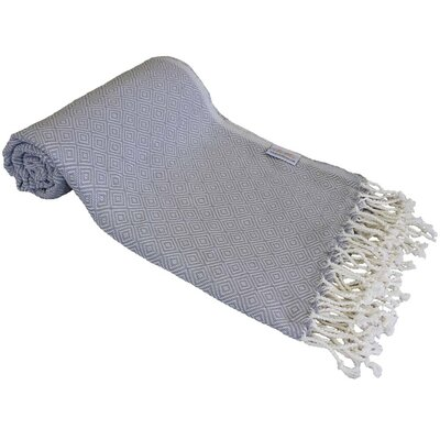 Diamond Turkish Beach Towel Color: Silver/Gray