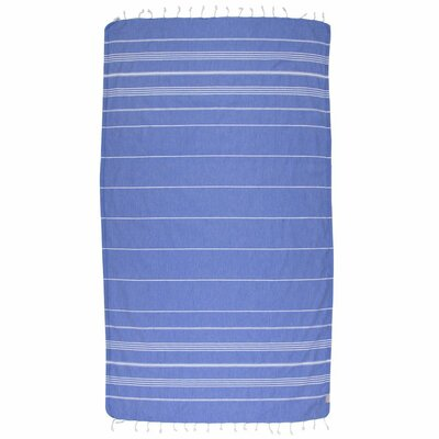 Classic Turkish 100% Cotton Beach Towel Color: Dark Blue