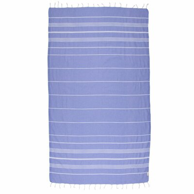 Classic Turkish 100% Cotton Beach Towel Color: Blue Violet