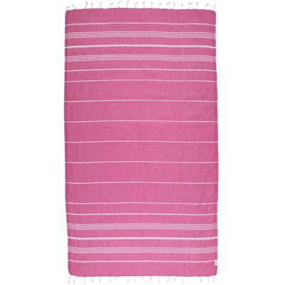 Classic Turkish 100% Cotton Beach Towel Color: Fuchsia