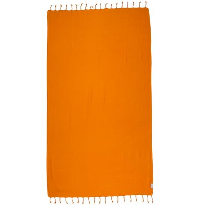 Turkish 100% Cotton Beach Towel Color: Orange