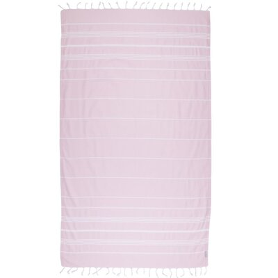 Classic Turkish 100% Cotton Beach Towel Color: Blush