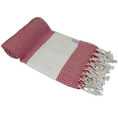 Fish Eye Turkish Beach Towel Color: Red
