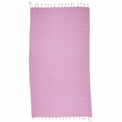 Turkish 100% Cotton Beach Towel Color: Pink