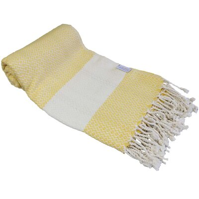 Fish Eye Turkish Beach Towel Color: Yellow