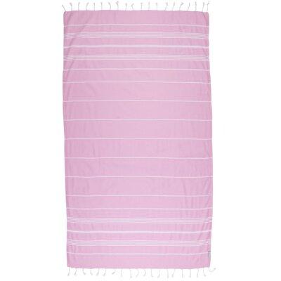 Classic Turkish 100% Cotton Beach Towel Color: Flamingo